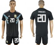 Wholesale Cheap Argentina #20 Paredes Away Soccer Country Jersey