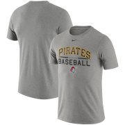 Wholesale Cheap Pittsburgh Pirates Nike Practice T-Shirt Heathered Gray