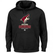 Wholesale Cheap Arizona Coyotes Majestic Critical Victory VIII Fleece Hoodie Black