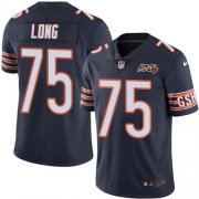 Wholesale Cheap Nike Bears #75 Kyle Long Navy Blue Team Color Men's 100th Season Stitched NFL Vapor Untouchable Limited Jersey