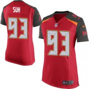 Wholesale Cheap Nike Buccaneers #93 Ndamukong Suh Red Team Color Women's Stitched NFL New Elite Jersey