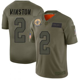 Wholesale Cheap Nike Saints #2 Jameis Winston Camo Youth Stitched NFL Limited 2019 Salute To Service Jersey