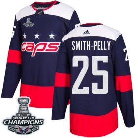 Wholesale Cheap Adidas Capitals #25 Devante Smith-Pelly Navy Authentic 2018 Stadium Series Stanley Cup Final Champions Stitched NHL Jersey