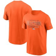 Wholesale Cheap Denver Broncos Nike Team Property Of Essential T-Shirt Orange