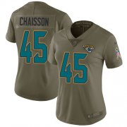 Wholesale Cheap Nike Jaguars #45 K'Lavon Chaisson Olive Women's Stitched NFL Limited 2017 Salute To Service Jersey