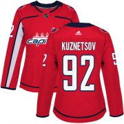 Wholesale Cheap Adidas Capitals #92 Evgeny Kuznetsov Red Home Authentic Women's Stitched NHL Jersey