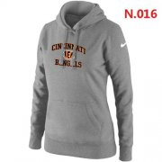 Wholesale Cheap Women's Nike Cincinnati Bengals Heart & Soul Pullover Hoodie Grey