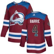 Wholesale Cheap Adidas Avalanche #4 Tyson Barrie Burgundy Home Authentic Drift Fashion Stitched NHL Jersey