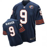 Wholesale Nike Bears #9 Jim McMahon Navy Blue Throwback Men's Stitched NFL Elite Jersey