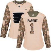 Wholesale Cheap Adidas Flyers #1 Bernie Parent Camo Authentic 2017 Veterans Day Women's Stitched NHL Jersey