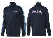 Wholesale Cheap NFL Seattle Seahawks Team Logo Jacket Dark Blue_2