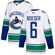 Wholesale Cheap Adidas Canucks #6 Brock Boeser White Road Authentic Youth Stitched NHL Jersey