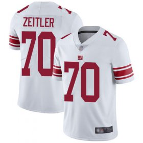 Wholesale Cheap Nike Giants #70 Kevin Zeitler White Men\'s Stitched NFL Vapor Untouchable Limited Jersey