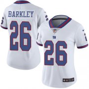 Wholesale Cheap Nike Giants #26 Saquon Barkley White Women's Stitched NFL Limited Rush Jersey