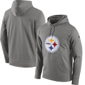 Wholesale Cheap Men\'s Pittsburgh Steelers Nike Gray Circuit Logo Essential Performance Pullover Hoodie