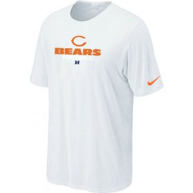 Wholesale Cheap Nike Chicago Bears Sideline Legend Authentic Font Logo NFL T-Shirt White