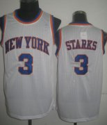 Wholesale Cheap New York Knicks #3 John Starks White Swingman Throwback Jersey