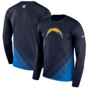 Wholesale Cheap Men's Los Angeles Chargers Nike Navy Sideline Legend Prism Performance Long Sleeve T-Shirt
