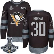 Wholesale Cheap Adidas Penguins #30 Matt Murray Black 1917-2017 100th Anniversary Stanley Cup Finals Champions Stitched NHL Jersey