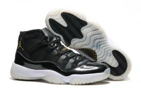 Wholesale Cheap Air Jordan 11 Retro Shoes Black/Gold-White