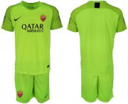 Wholesale Cheap Roma Blank Green Goalkeeper Soccer Club Jersey