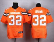 Wholesale Cheap Nike Browns #32 Jim Brown Orange Alternate Men's Stitched NFL New Elite Jersey