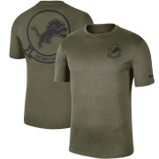 Wholesale Cheap Men's Detroit Lions Nike Olive 2019 Salute to Service Sideline Seal Legend Performance T-Shirt