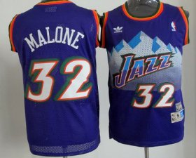 Wholesale Cheap Utah Jazz #32 Karl Malone Mountain Purple Hardwood Classics Soul Swingman Throwback Jersey