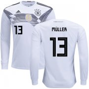 Wholesale Cheap Germany #13 Muller Home Long Sleeves Kid Soccer Country Jersey