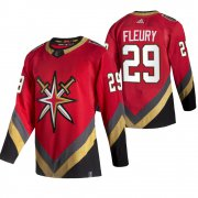 Wholesale Cheap Vegas Golden Knights #29 Marc-Andre Fleury Red Men's Adidas 2020-21 Reverse Retro Alternate NHL Jersey