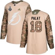 Wholesale Cheap Adidas Lightning #18 Ondrej Palat Camo Authentic 2017 Veterans Day Youth 2020 Stanley Cup Final Stitched NHL Jersey
