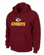 Wholesale Cheap Kansas City Chiefs Authentic Logo Pullover Hoodie Red