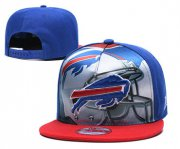 Wholesale Cheap Bills Team Logo Blue Red Adjustable Leather Hat TX