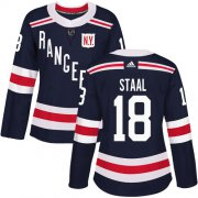 Wholesale Cheap Adidas Rangers #18 Marc Staal Navy Blue Authentic 2018 Winter Classic Women's Stitched NHL Jersey