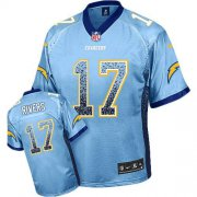 Wholesale Cheap Nike Chargers #17 Philip Rivers Electric Blue Alternate Men's Stitched NFL Elite Drift Fashion Jersey