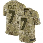 Wholesale Cheap Nike Jaguars #7 Nick Foles Camo Youth Stitched NFL Limited 2018 Salute to Service Jersey