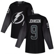 Wholesale Cheap Adidas Lightning #9 Tyler Johnson Black Alternate Authentic Stitched Youth NHL Jersey