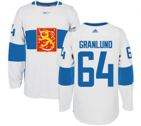 Wholesale Cheap Team Finland #64 Mikael Granlund White 2016 World Cup Stitched NHL Jersey