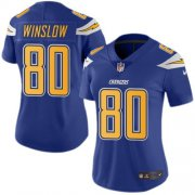 Wholesale Cheap Nike Chargers #80 Kellen Winslow Electric Blue Women's Stitched NFL Limited Rush Jersey