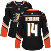 Wholesale Cheap Adidas Ducks #14 Adam Henrique Black Home Authentic Women's Stitched NHL Jersey