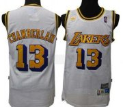 Wholesale Cheap Los Angeles Lakers #13 Wilt Chamberlain White Swingman Throwback Jersey