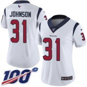 Wholesale Cheap Nike Texans #31 David Johnson White Women's Stitched NFL 100th Season Vapor Untouchable Limited Jersey