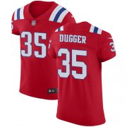 Wholesale Cheap Nike Patriots #35 Kyle Dugger Red Alternate Men's Stitched NFL New Elite Jersey