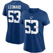 Wholesale Cheap Indianapolis Colts #53 Darius Leonard Nike Women's Team Player Name & Number T-Shirt Royal