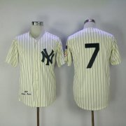 Wholesale Cheap Mitchell And Ness 1951 Yankees #7 Mickey Mantle Cream Throwback Stitched MLB Jersey