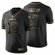 Wholesale Cheap Dallas Cowboys #13 Michael Gallup Men's Nike Black Golden Limited NFL 100 Jersey