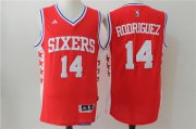 Wholesale Cheap Men's Philadelphia 76ers #14 Sergio Rodriguez NEW Red Stitched NBA adidas Revolution 30 Swingman Jersey