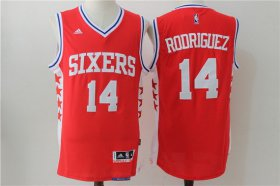 Wholesale Cheap Men\'s Philadelphia 76ers #14 Sergio Rodriguez NEW Red Stitched NBA adidas Revolution 30 Swingman Jersey