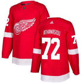 Wholesale Cheap Adidas Red Wings #72 Andreas Athanasiou Red Home Authentic Stitched NHL Jersey