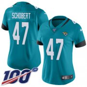 Wholesale Cheap Nike Jaguars #47 Joe Schobert Teal Green Alternate Women's Stitched NFL 100th Season Vapor Untouchable Limited Jersey